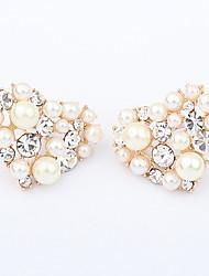 billige -Perle Hjerte Hjerteformet Guld Smykker