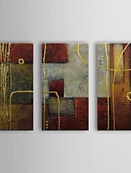 Ručno oslikana Sažetak Horizontalan Platno Hang oslikana uljanim bojama Početna Dekoracija Tri plohe
