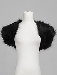 cheap -Short Sleeves Feather / Fur Party Evening Fur Wraps Wedding  Wraps Shrugs