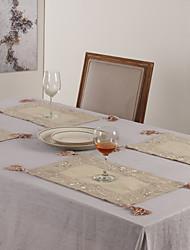 """11 """"X17"""" Modern Style Bettwäsche und Poly Beige Tischsets"""
