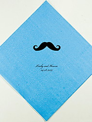 cheap -Personalized Wedding Napkins Mustache(More Colors)-Set of 100