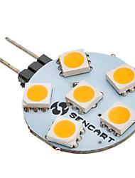 G4 6 diodes électroluminescentes SMD 5050 Blanc Chaud 60-80lm 3000K AC 12V