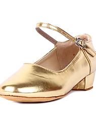 Børn Moderne Kunstlæder Hæle Kraftige Hæle Guld Sølv Gyldent Rosa 3,5 cm Kan ikke tilpasses