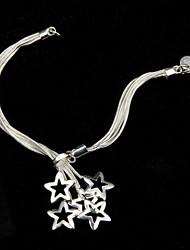 Sterling Silver bracelet plaqué alliage cuivre-nickel attrayant avec pendentif étoile