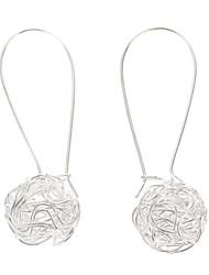baratos -Mulheres Prata Chapeada Brincos Compridos - Para Festa Diário