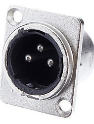 XLR 3-Kerne Welding Adapter vernickelt Male Stiftung für KTV Mikrofon
