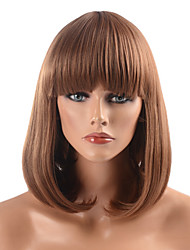 Capless High Quality Synthetic Golden Brown Straight BOB Hair Wig