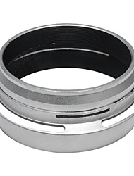 Filter Adapter Ring + Lens Hood for Fujifilm Fuji X100 Replace LH-X100 silver