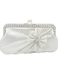 cheap -Women's Bags Satin Evening Bag Flower Red / Burgundy / Ivory / Wedding Bags
