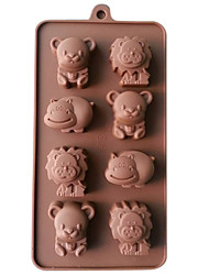 cheap -Silicone Lion,Cow&Bear Chocolate Molds Jelly Ice Molds Candy Cake Mould Bakeware