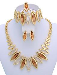 Недорогие -высокое качество королевские Дубай моды свадьбы ювелирные изделия setincluding ожерелье, браслет, кольцо, серьги