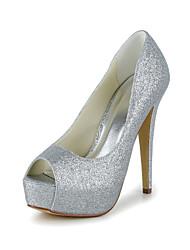billiga -Smakfulla peep toe Sparkling Glitter Pumps Wedding Shoes (Fler färger)