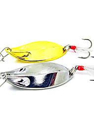 Недорогие -1 pcs Жесткая наживка Металлическая наживка Рыболовная приманка Жесткая наживка Металлическая наживка  Перья Bass Форель щука Морское рыболовство Пресноводная рыбалка Металл