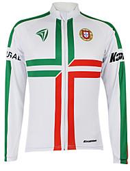 Kooplus Cycling Jersey Men's Women's Unisex Long Sleeves Bike Jersey Tops Quick Dry Windproof Waterproof Zipper Front Zipper Dust Proof