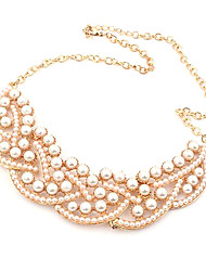 cheap -Women's Pearl Pendant Necklace / Collar Necklace - Pearl Luxury, European Necklace For Party