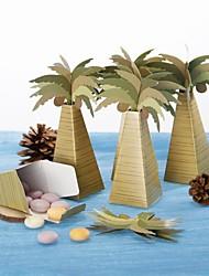 Chá de Bebê / Aniversário Party Favors & Gifts-12Peça/Conjunto Caixas de Ofertas Papel de Cartão Tema Praia Other Marrom / Verde