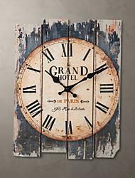 Недорогие -15-дюймовые настенные часы коричневого цвета в стиле кантри