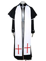 Costumi da vampiro Costumi Cosplay Vestito da Serata Elegante Uomo Halloween Feste/vacanze Costumi Halloween Nero Collage