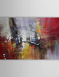 cheap -Oil Painting Hand Painted - Abstract Traditional Canvas