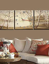 "cheap -12""-24""Country Style Tree TWall Clock In Canvas,Art Wall Clock 3pcs"