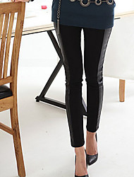 Women PU Legging,Cotton Others