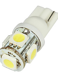 cheap -Media T10 2W 50LM 5-SMD LED Car White Light Bulbs - Pair (DC 12V)-LEDD004T10A5S1