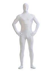 Ternos Zentai Ninja Fantasia Zentai Fantasias de Cosplay Branco Sólido Collant/Pijama Macacão Fantasia Zentai Licra Unisexo Dia Das Bruxas