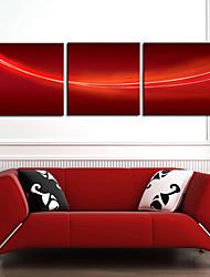Reproduction transférée sur toile Art abstrait fond rouge Ensemble de 3