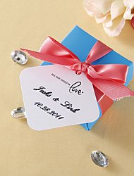 cheap -Personalized Favor Tags - All you need is love (set of 36) Wedding Favors