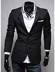 cheap -Seey Men's Black Cloth Pocket Personality  Suit