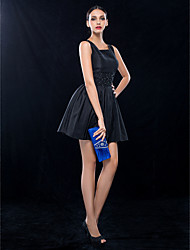 cheap -A-Line Square Neck Short / Mini Taffeta Cocktail Party Wedding Party Dress with Beading Ruching by TS Couture®