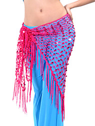 Belly Dance Belt Women's Training Polyester Tassel(s) 1 Piece Hip Scarf