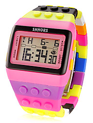 cheap -Women's Digital Watch Digital Alarm Calendar / date / day Chronograph Plastic Band Digital Charm Fashion Pink / LCD