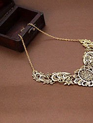 cheap -Women's Hollow Out Pendant Necklace - Lace Cross, Flower Luxury, Vintage, European Necklace For Party