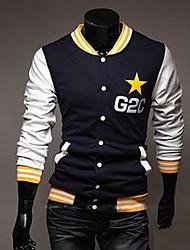 Недорогие -Мужская тонкий бейсбола вышивки вниз и пиджаки