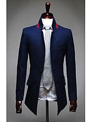 Недорогие -Мужчин ворота стойки повседневные пиджаки Fasion нейлон