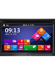 "baratos -6.2 ""do carro dvd leitor tela LCD de toque 2DIN com gps, bluetooth, ipod, atv"