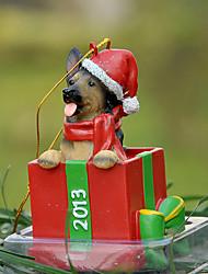 Carino pastore tedesco ornamento decorativo regalo di Natale per i Pet Lovers