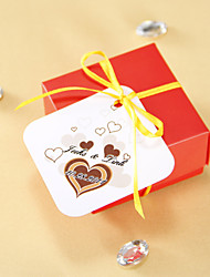 cheap -Personalized Favor Tags - Chocolate Heart (set of 36) Wedding Favors