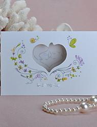 Pli Parallèle Horizontal Invitations de mariage Cartes d'invitation Style classique Style floral Papier durci 16.6*11.5cm