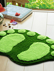 "abordables -Tapis de bain 16x24 Footprint Pattern ""Green"