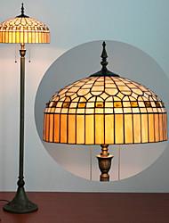 billiga -Ger Design Floor Lamp, 2 ljus, Tiffany Resin glasmålning Process