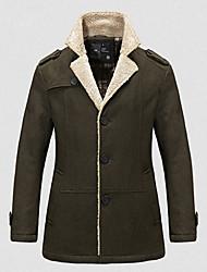 Недорогие -Мужчины шерсть нейлон костюм воротник пальто шанца