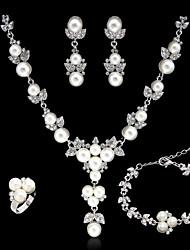 cheap -Women's Rhinestone / Imitation Pearl Jewelry Set - Others Silver