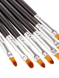 7pcs escova Lip Fashinable (Black)