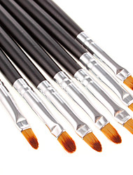 7PCS Fashinable Lip Brush(Black) Cosmetic Beauty Care Makeup for Face