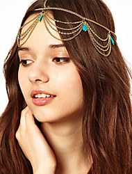 Women's Alloy Headband Headwear Party Tassels Boho Turkish All Seasons Gold