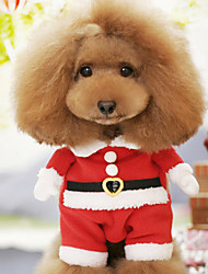 cheap -Dog Costume Dog Clothes Cute Cosplay Christmas Cartoon Red Costume For Pets