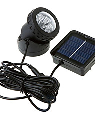 6-LED Waterproof Solar Powered Spotlight Garden Outdoor Flood Lamp