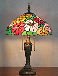 Недорогие -Цветочный дизайн Настольная лампа, 2 Свет, Тиффани Смола Стекло картины